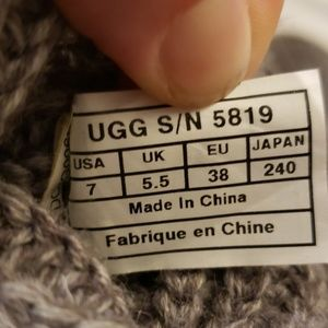 UGG Shoes - Ugg cable knit gray button boots